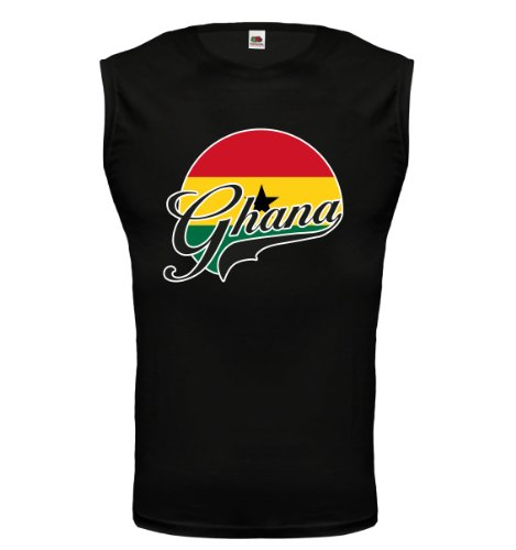 buXsbaum® Tank Top Ghana-Logo Black-z-direct