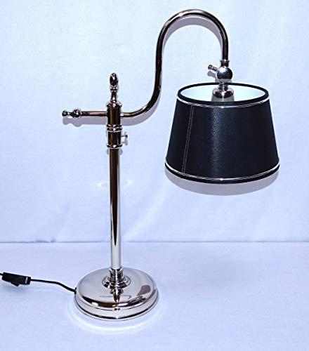 Diseño de Art Deco lámpara de escritorio, lámpara de mesa en la Bauhaus diseño de colour plateado