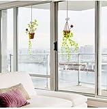 3D Wandtattoo Wandtattoo Schlafzimmer Wandstickerwohnzimmer Balkon Schiebetür Personalisierte Kreative Dekoration Wandaufkleber, Hängende Blau, Groß