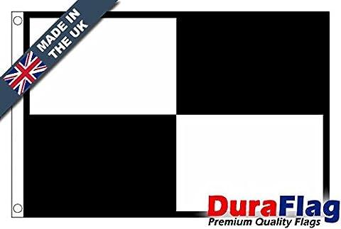 DuraFlag® Noir et blanc Checkered Beach Safety Drapeau de qualité supérieure