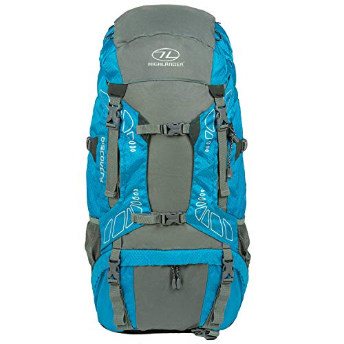 ff25ef0e08 Highlander 65L Discovery Rucksack Lightweight Hiking Backpack with  Waterproof Cover – Ideal for Walking, Travelling