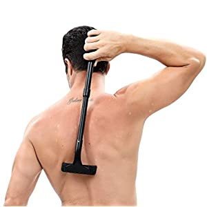 Back Shaver, DIY Back Hair Shaver & Body Shaver with 20 Inch Adjustable Handle - Safety & Pain-Free Back Razors, Back Hair Removal for Men, Perfect for Dry & Wet Use
