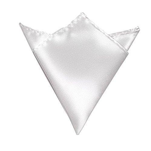 Herren-Einstecktuch Weiss   Satin Seide-Optik   Taschentuch Stecktuch zum Anzug Sakko Smoking