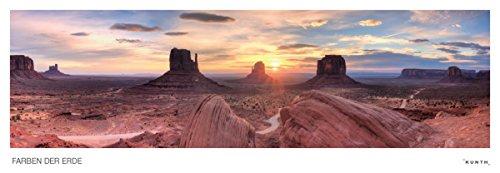 Farben der Erde Kalender: Panoramaformat, immerwährend (KUNTH Wandkalender Panorama 101 x 35 cm)
