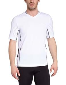 Odlo Herren T-Shirt Short Sleeve Crew Neck Emeru, white - black, S, 346132