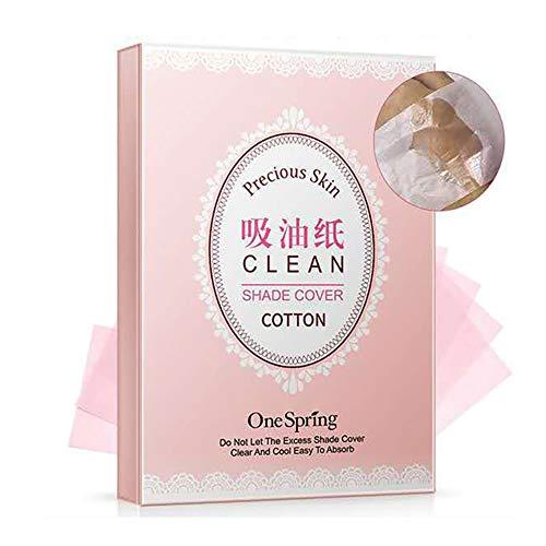 Xiton Makeup Zubehör 3 Packs Öl Blotting Blätter Natur Oil Control Film ölabsorbierenden Sheets Fettige Skin Care Make-up Fest Werkzeug, 100sheets / Packung -