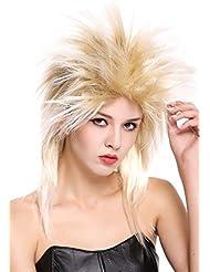 WIG ME UP ® - 90891-ZA89TZA88 Perruque dame homme carnaval années 80 wave punk popstar mélange blond crêpée