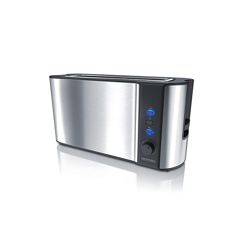 Arendo Automatik Toaster Langschlitz Mit Defrost Funktion Wrmeisolierendes Doppelwandgehuse Automatische Brotzentrierung Brtchenaufsatz Herausziehbare Krmelschublade Gs Zertifiziert