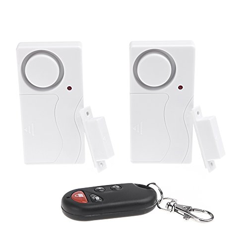 KKmoon Wireless Remote Control Home Security Entry Alarm Warning System with Magnetic Sensor for Door Window 1 to 2; Magnetic Wireless Sensor Safety Security Alarm Window amp; Door Intruder Burglar