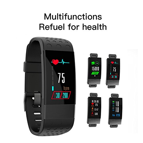 Fitness Tracker 2018 New Version IP67 Waterproof Activity Tracker With Heart Rate Blood Pressure Monitor Watch Pedometer Step Counter Watch Calorie Counter Watch And Sleep Monitor Fitness Wristband Fi
