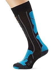 X-Socks Ski Pro-Soft,  Uomo, Antracite/Azzurro, 42/44