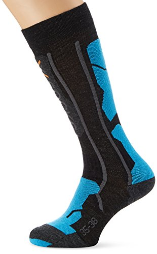 X-Socks Funktionssocken Ski Pro Soft Socken, Anthracite/Azure, 45/47