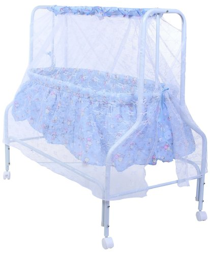 Baby Bucket Baby Cradle With Mosquito Net (Blue)
