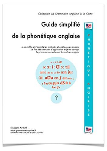 Guide simplifié de la phonétique anglaise