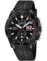 Lotus 18104/1 - Reloj de pulsera hombre, Caucho, color Negro