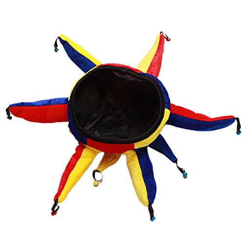 Fliyeong Premium Party Kostüm Clown Hut Lustige Multicolor Jester Cap Karneval Holloween Party Cosplay Zubehör