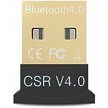tikitaka Mini adaptador USB Bluetooth V 4.0Modo Dual Wireless Dongle Bluetooth RSE 4.0USB 2.0/3.0para Windows 108Win 7Vista XP 32/64