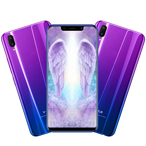 Cellulari Economici VMOBILE XS Pro(Display 5,85' HD Dual SIM 3800mAh 3GB+32GB Fotocamera 13MP Offerte Cellulari Quad Core Android 7 Face ID GPS 3G+ Telefoni Cellulari in Offerta (Gradiente di viola
