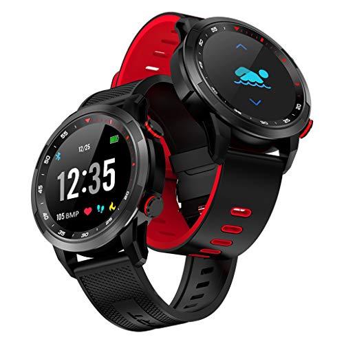 Comie V09 Blutdruck Tracker, Schlafüberwachung Tracker Herzfrequenz IP68 Wasserdicht Aktivität Tracke Herzfrequenz Monito Sport Fitness Aktivitäts Fitnessuhr für iOS für Android (Rot)