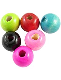 PEPPERLONELY Brand 200PC Mixed Round Dyed Wood Beads 10mm