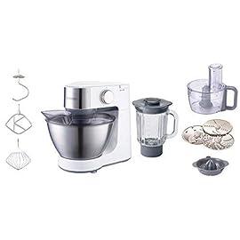 Kenwood KM260 PROSPERO Kitchen Machine, 4.3 L, 600 W, Acciaio Inossidabile, Argento/Bianco