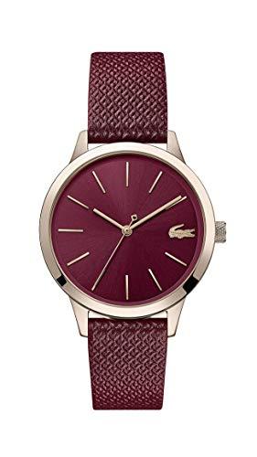Lacoste Damen Analog Quarz Uhr mit Leder Armband 2001092 - Movado Damen Uhren