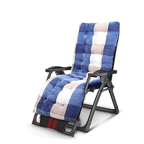 Chaises pliantes, Fauteuil inclinable, Pause déjeuner, Chaise Longue, Paresseux, Bureau (Couleur : Bleu)