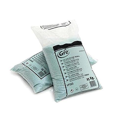 Billes de verre pour filtration a sable sac de 25kg - gre VF025