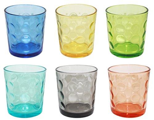 Borella casalighi Jenny Juego 6vasos de agua, colores surtidos, 6unidades