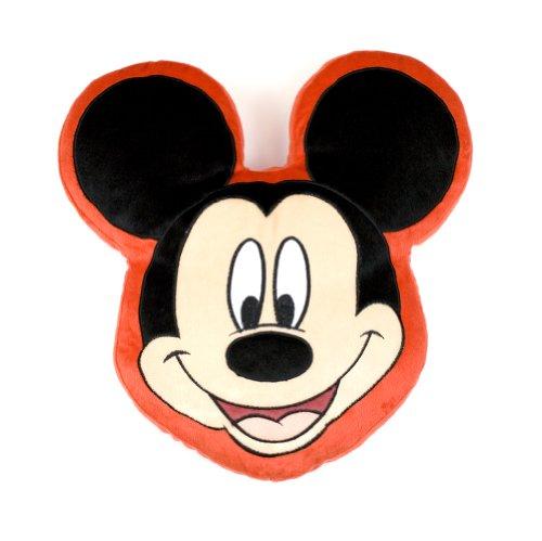 Character World Disney Mickey Maus Kopf Form Plüsch Kissen (Mickey Maus Plushs)