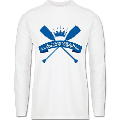 Wassersport - Paddelkönig - Longsleeve / langärmeliges T-Shirt für Herren Weiß