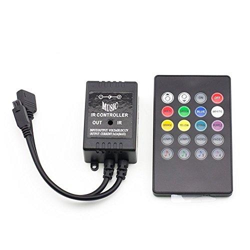 Zwei Wand-waschmaschinen-licht (EPBOWPT 20Keys LED RGB Strip IR Remote Music Controller Fernbedienung Kontroller Steuerung für 5M, 10M 3528/5050 SMD LED Streifen RGB LED Lichtband DC 12V Farbwechsel Led Lichtleiste)