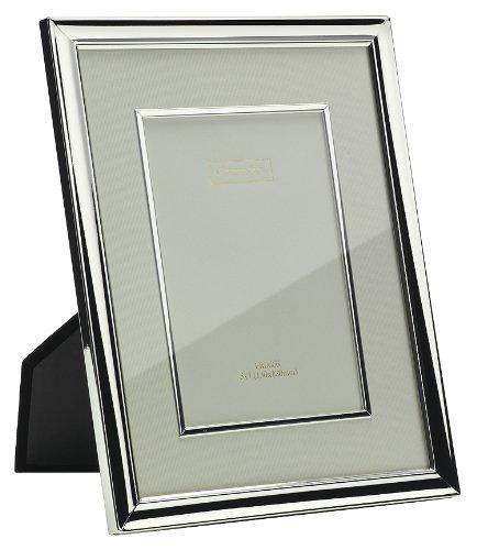 Addison Ross Bilderrahmen, versilbert, mit cremefarbenem Passepartout und Einfassung, 10 x 15 cm