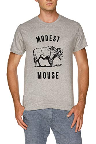 Modest Mouse T-shirt (Modest Mouse Buffalo Herren Grau T-Shirt Größe L | Men's Grey T-Shirt Size L)