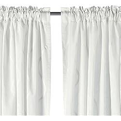 Ikea Rideau Hillmari Blanc 144,8x 248,9cm 1paire