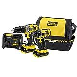 Stanley FMCK461C2-QW Fatmax Kit Avvitatore a Impulsi con 2 Batterie 1.3Ah e Borsa, 18 V, 1/2 pollice