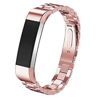 WISLECT Bands for Fitbit Alta Rose Gold, Metal Watch Bands Watch Strap for Fitbit Alta Bands Accessories for Fit Bit Alta