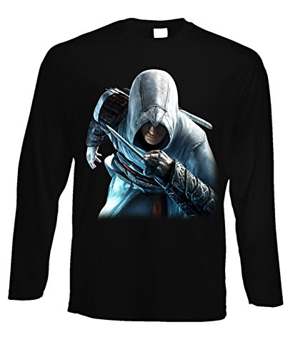 Tshirt a maniche lunghe assassin's creed - in cotone by Fashwork