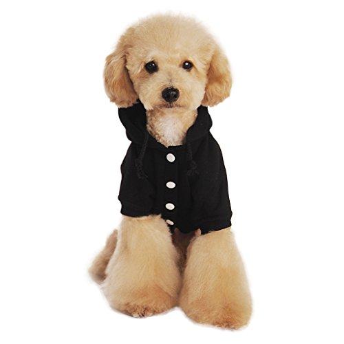 Baumwolle Hundemantel Hundejacke Hundepullover mit Kapuze Hunde Winter Herbst warme Hundebekleidung Hunde Kostüm Kleidung S M L XL XXL SCHWARZ