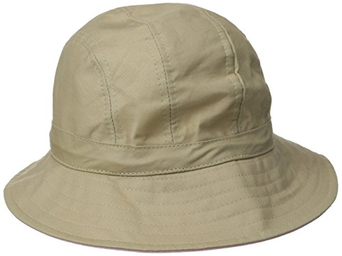 physician-endorsed-womens-b-zee-100-percent-cotton-two-tone-packable-hat-rated-upf-50-khaki-pink-one