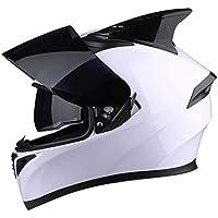 ZXHW Casco de Doble Lente Casco de Motocross de Cara Completa Desmontable Forrado Casco de Montar