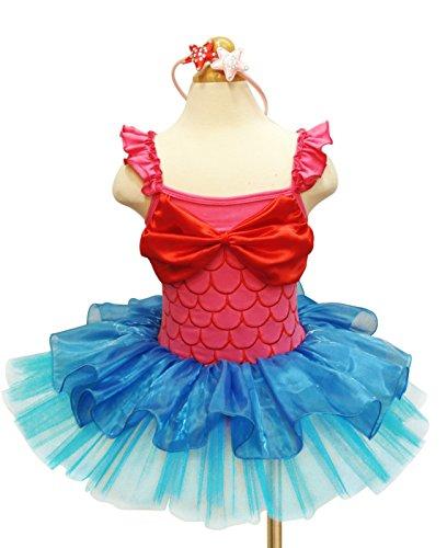 Kostüme Halloween Beste (YiZYiF Mädchen Kinder Kostüm Ballettkleid Geburtstag Party Karneval Fasching Cosplay Halloween Kostüm Kleid mit Ohren (98-104, Hot Pink +)