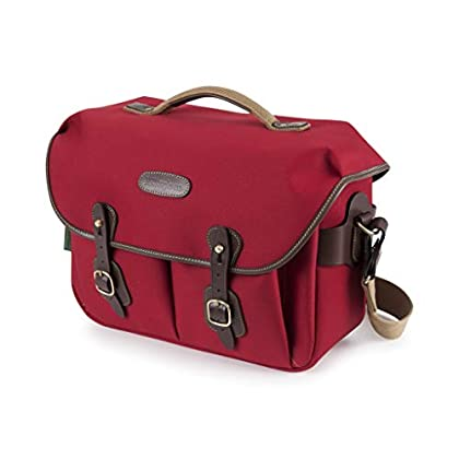 Billingham Hadley One Camera/Laptop Bag (Burgundy Canvas/Chocolate Leather)