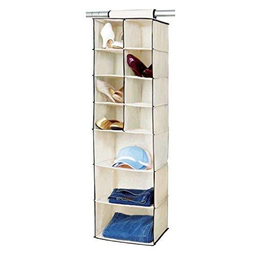 6/7Regal Aufhängen Organizer, cremefarben, 7 Shelf -