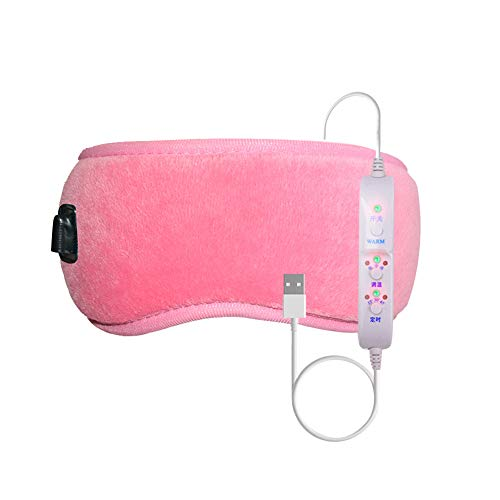 xMxDESiZ Time Temperature Control Hot Compress Fatigue Relief Electric Eye Mask Pad Pink
