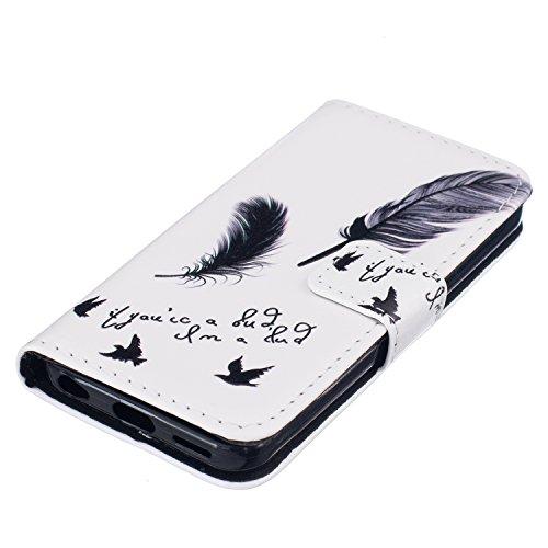 cowx Etui en cuir pour Apple iPhone 5C Etui Housse Poche coque housse Flip Wallet Style Case Etui en cuir pour Apple iPhone 5C Pochette Foto2