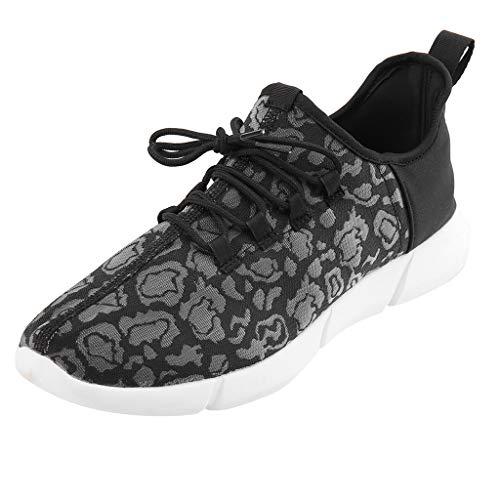 iHENGH Scarpa Pigre Ginnastica Scarpe Uomo Moda Casual Pantofola Shoes Men Outdoor Lace-Up Breathable Sneakers Estate Scarpe Uomo Running Sport Respirante Pu Nero(Nero,41)