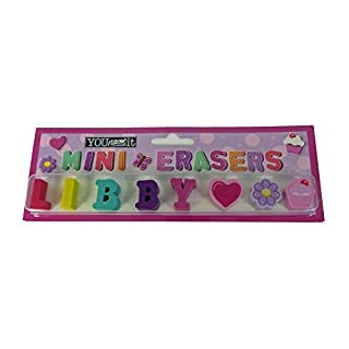 YouNameIt Childrens Mini Erasers - Libby