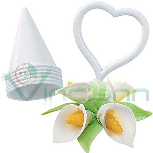 Set kit 7 pezzi Stampo fiore Calla decorazione torta dolci fiori cup cake (Calla Kit)