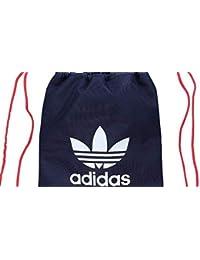 adidas Originals Trefoil Gimnasio Saco Bolsa Bolsa de Deporte en Collegiate Navy-Lush Rojo